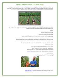 חקלאות וחקלאים בישראל - הפורום הישראלי לתזונה בת קיימא