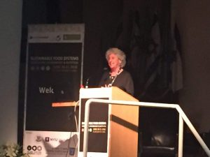 Prof. Marion Nestle speaking at our conference, in collaboration with the Manna Center Program, Tel Aviv University