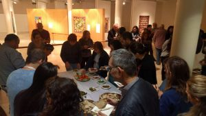 Attendees enjoying a wide variety of sustainable meals, prepared by Israeli chefs