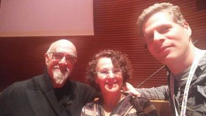 Chef Israel Aharoni with Dr. Dorit Adler and Dr. Alon Shepon
