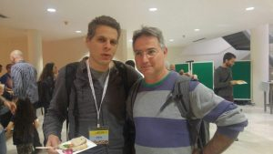 Dr. Alon Shepon with Prof. Nir Avieli, a food anthropologist from the Ben Gurion University