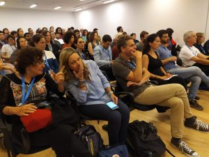 Attendees at the Israeli Climate Convention, former MK Miki Haimovich and Dr. Dorit Adler